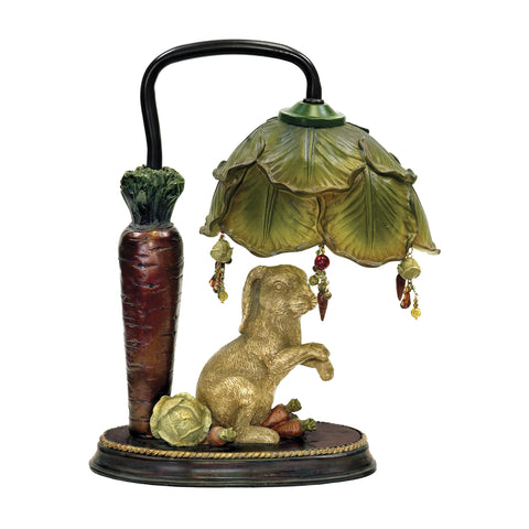 Sterling Rabbit Under Leaf 1 Light Mini Table Lamp