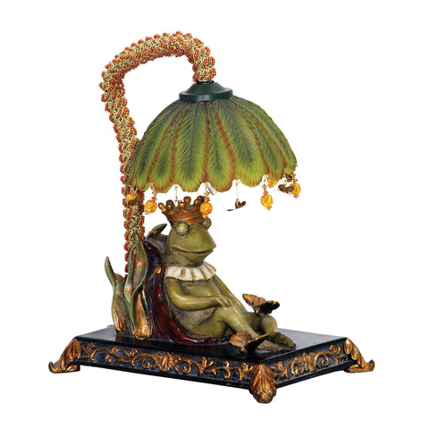 Sterling Sleeping King Frog 1 Light Mini Table Lamp In GreenwiCh