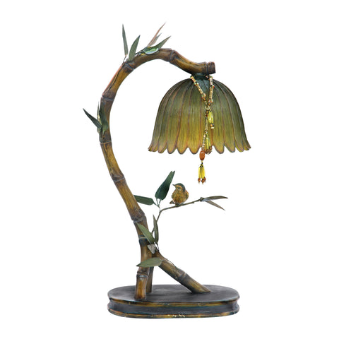 Sterling Perching Finch 1 Light Table Lamp In Burwell Bronze