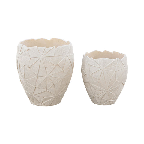 Beautiful Dimond Home  Origami Outdoor Planters  in  Fiberglass