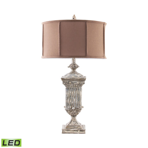 Beautiful Dimond Lighting  Morgan Hill Distressed LED Table Lamp in White  in  Composite