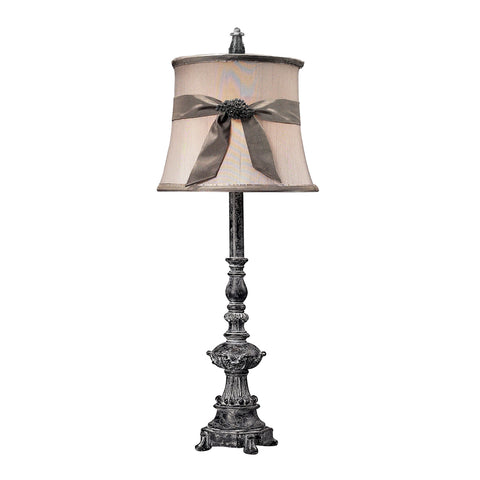 Beautiful Dimond Lighting Sutton Buffet Lamp In Black With Broach Embellished Shade