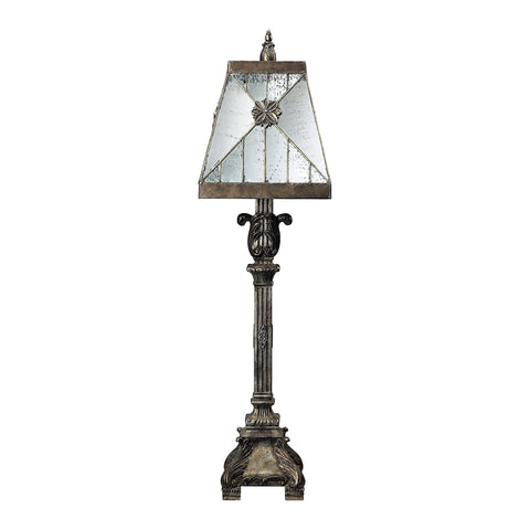 Beautiful Dimond Lighting Surrency Buffet Lamp With Mirrored Glass Shade