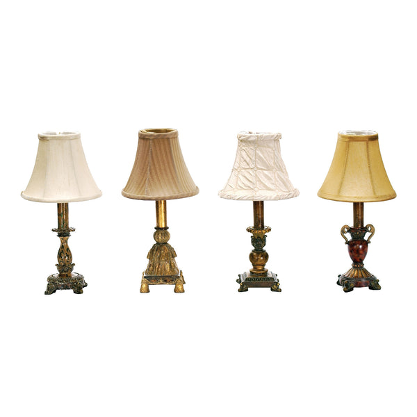 Beautiful Dimond Lighting Library 1 Light Mini Table Lamps - Set of 4