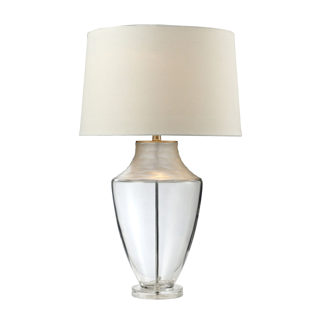 "30"" Spin Cut Glass Table Lamp ."
