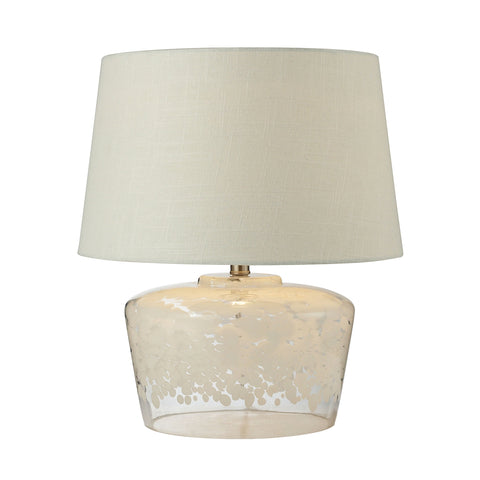 "Beautiful 18"" Flurry Frit Well Boutique Glass  Table Lamp for your Indoor Lighting."