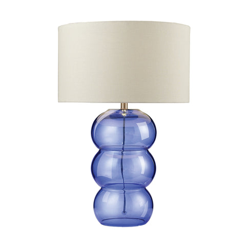 "28"" Ring Lamp Cobalt Glass Table Lamp."