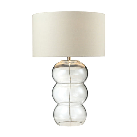 "28"" Ring Lamp Pearlescent Glass Table Lamp"
