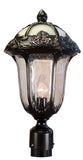 Rose Garden F-3710-ORB-SG Large Post Mount Light with Seedy Glass