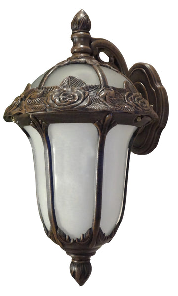 Rose Garden F-2711-CP-AB Medium Top Mount Light with Alabaster Glass