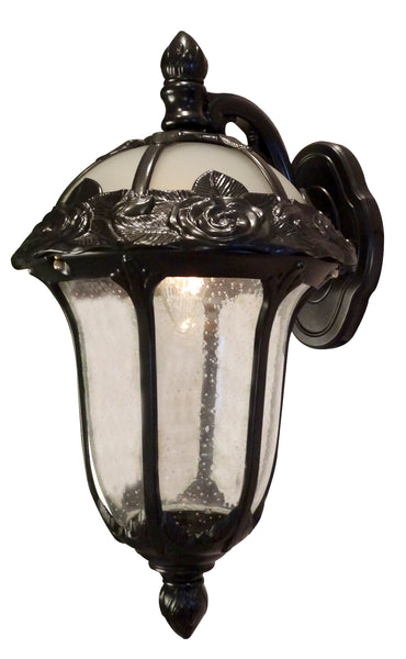 Rose Garden F-2711-ORB-SG Medium Top Mount Light with Seedy Glass