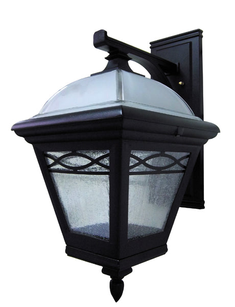 Brentwood F-3831-BLK  Large Top  Mount – Closed Bottom Light