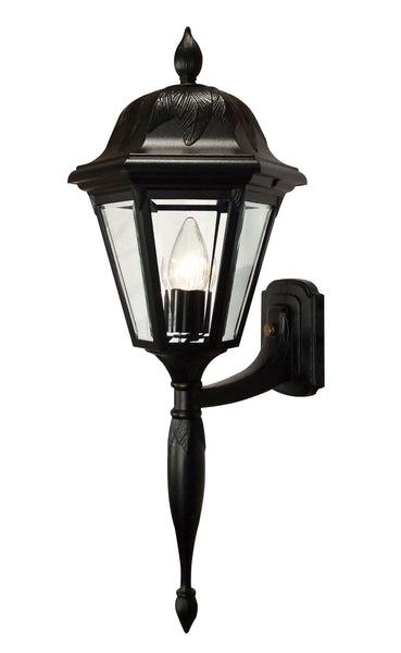 Floral 3945-BLK-BV Large Bottom Mount Light Fixture with Long Tail