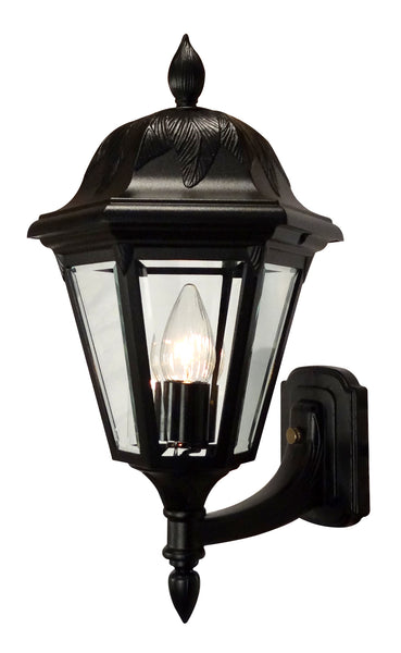 Floral 3947-BLK-BV Large Bottom Mount Light Fixture with Short Tail