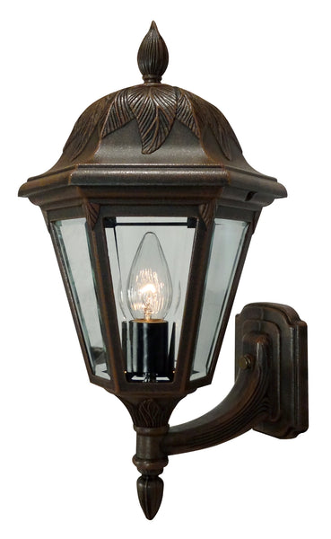 Floral 3947-CP-BV Large Bottom Mount Light Fixture with Short Tail