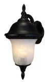 Glenn Aire F-3991-BLK-AB Large Top Mount Light with Alabaster Glass