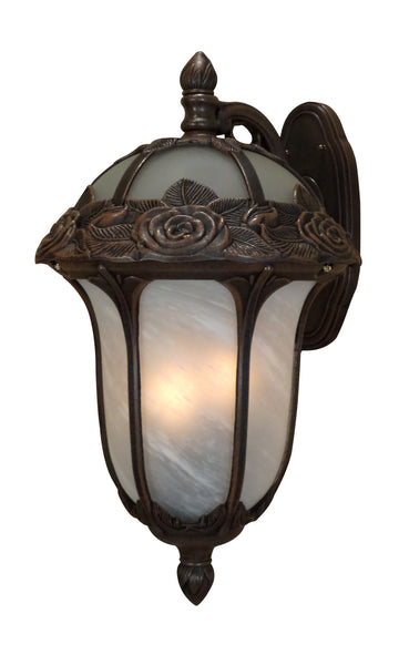 Rose Garden F-3711-CP-AB Large Top Mount Light with Alabaster Glass