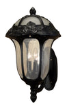 Rose Garden F-3717-BLK-SG  Large Bottom Mount Light with Seedy Glass