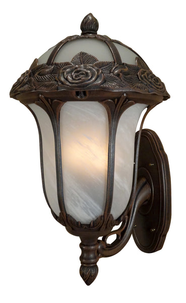 Rose Garden F-3717-CP-AB Large Bottom Mount Light with Alabaster Glass