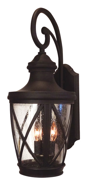 Claremont F-3861-ORB Large Top Mount Exterior Wall Light Fixture