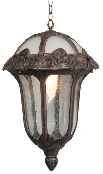 Rose Garden Medium Pendent Light with Clear Seedy Glass