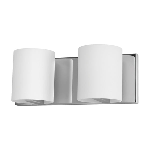 ELK Lighting  Enterprise Vanity - 2 light w/lamps. White Opal glass/Chrome finish.