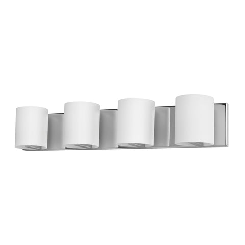 ELK Lighting  Enterprise Vanity - 4 light w/lamps. White Opal glass/Chrome finish.