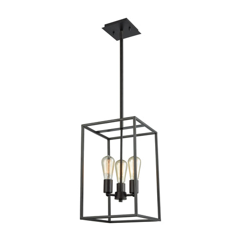 Thomas Williamsport 3 Light Chandelier In Oil Rubbed Bronze