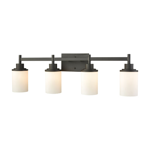 Thomas Lighting  Belmar 4-Light for the Bath in Oil Rubbed Bronze with Opal White Glass  4 x 100W
