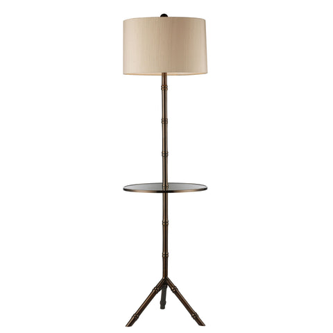 Beautiful Dimond Lighting  D STANTON 1-LIGHT FLOOR LAMP DUNBROOK FINISH WITH GLASS TRAY  in  Steel