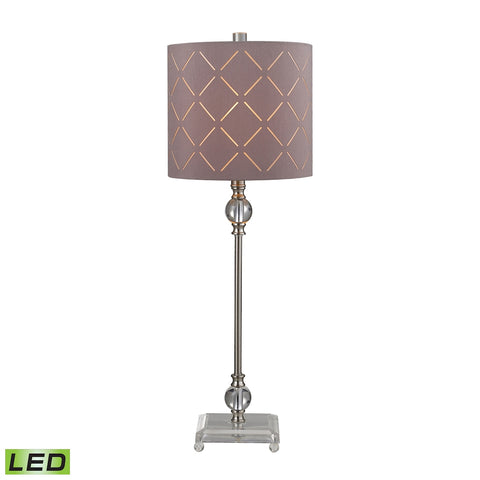 Beautiful Dimond Lighting Laser Cut LED Buffet Lamp in Brushed Steel