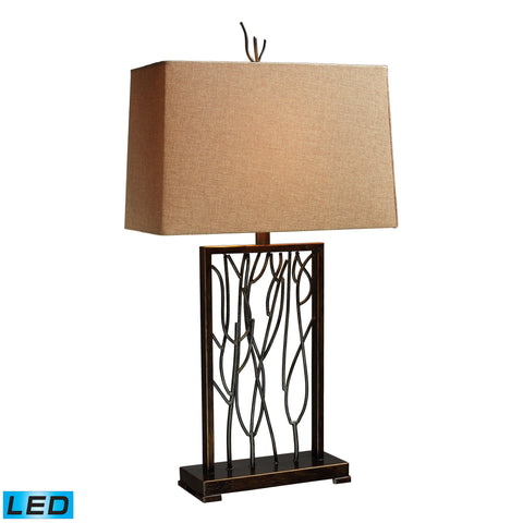 Beautiful Dimond Lighting  Belvior Park LED Table Lamp In Aria Bronze And Iron  in  Iron
