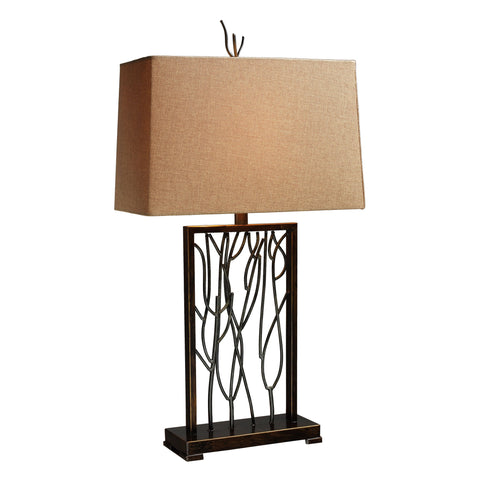 Beautiful Dimond Lighting  BELVOIR PARK 1-LIGHT TABLE LAMP  ARIA BRONZE AND IRON  in  Iron