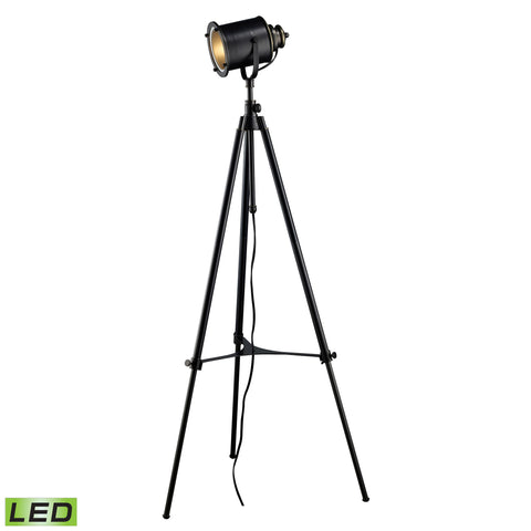 Beautiful Dimond Lighting  Ethan Adjustable Tripod LED Floor Lamp in Restoration Black  in  Steel