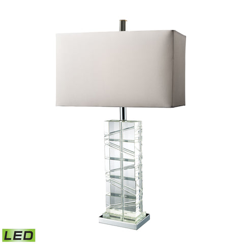 Beautiful Dimond Lighting  Avalon LED Table Lamp In Clear Crystal And Chrome  in  Crystal, Steel
