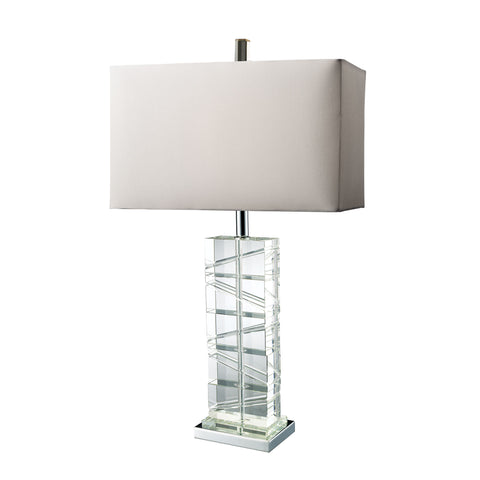 Beautiful Dimond Lighting  AVALON CRYSTAL TABLE LAMP  in  Crystal, Steel