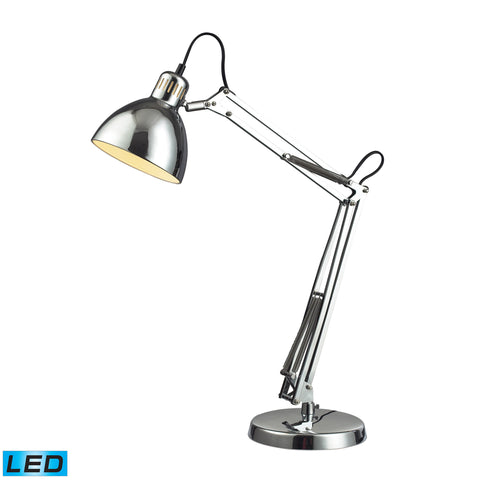 Beautiful Dimond Lighting Ingelside LED Desk Lamp In Chrome With Chrome Shade