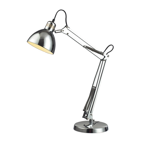 Beautiful Dimond Lighting Ingelside Desk Lamp In Chrome With Chrome Shade