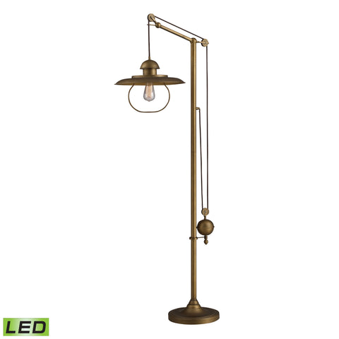Beautiful Dimond Lighting  HAMLIN ADJUSTABLE FLOOR LAMP IN ANTIQUE BRASS WITH LED BULB  in  Metal