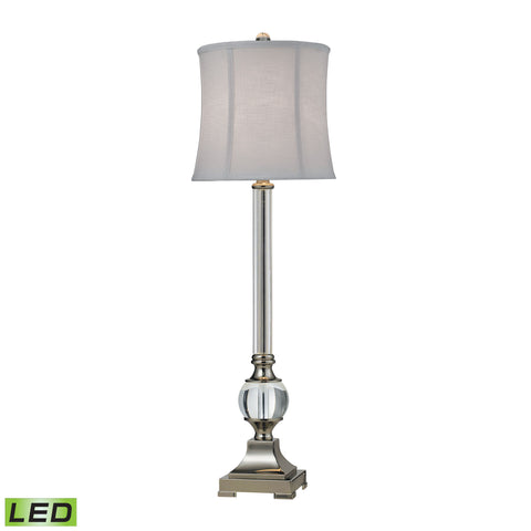 Beautiful Corvallis LED Buffet Lamp In Polished Nickel And Clear Finish for your Indoor Lighting.