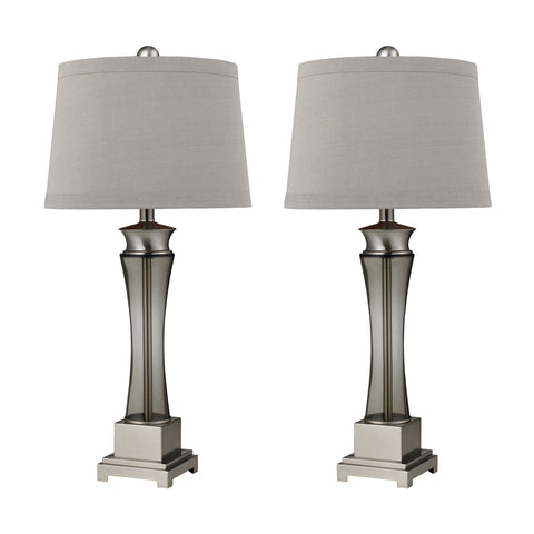 Beautiful Dimond Lighting Onassis Table Lamps in Nickel Finish - Set of 2