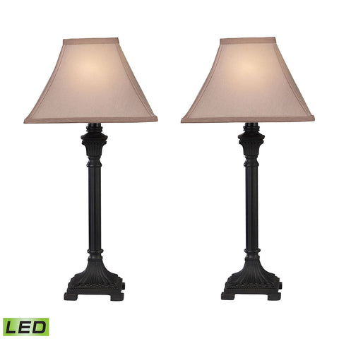 Trump Home Woodbury LED Table Lamps in Brown - Set of 2.