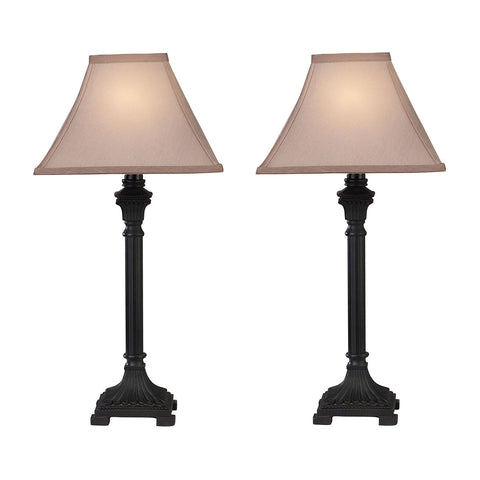 Beautiful Dimond Lighting Trump Home Woodbury Table Lamps in Brown - Set of 2