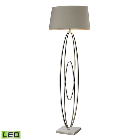 Beautiful Dimond Lighting  Hanoverville LED Floor Lamp in Polished Nickel  in  Metal