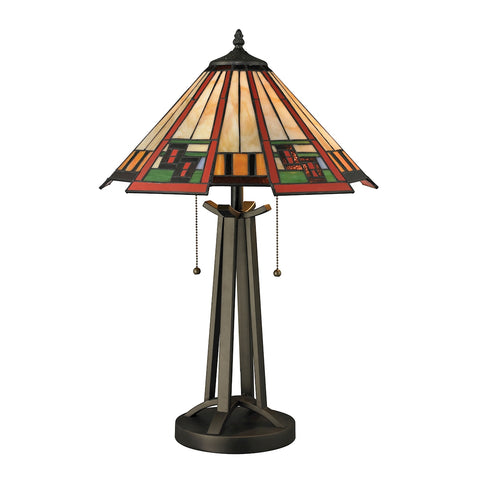 Beautiful Carris Table Lamp In Tiffany Bronze for your Indoor Lighting.