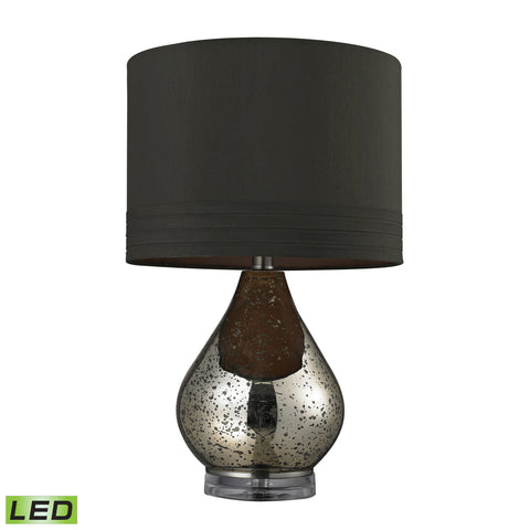 Beautiful Antique Mercury Glass LED Table Lamp in Gold for your Indoor Lighting.