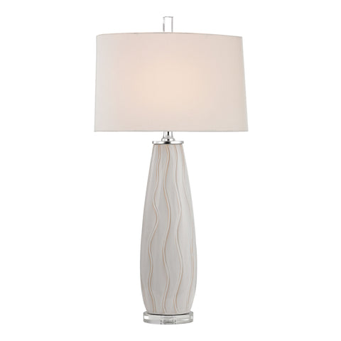 Beautiful Dimond Lighting Andover Ceramic Table Lamp in Washington White
