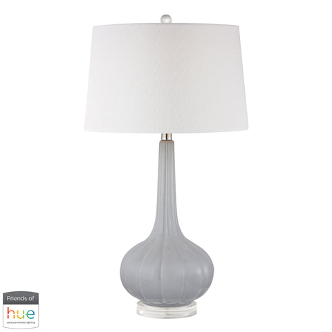 Beautiful Dimond Lighting  Abbey Lane Ceramic Table Lamp in Pastel Blue - with Philips Hue LED Bulb/Bridge  in  Acrylic, Ceramic