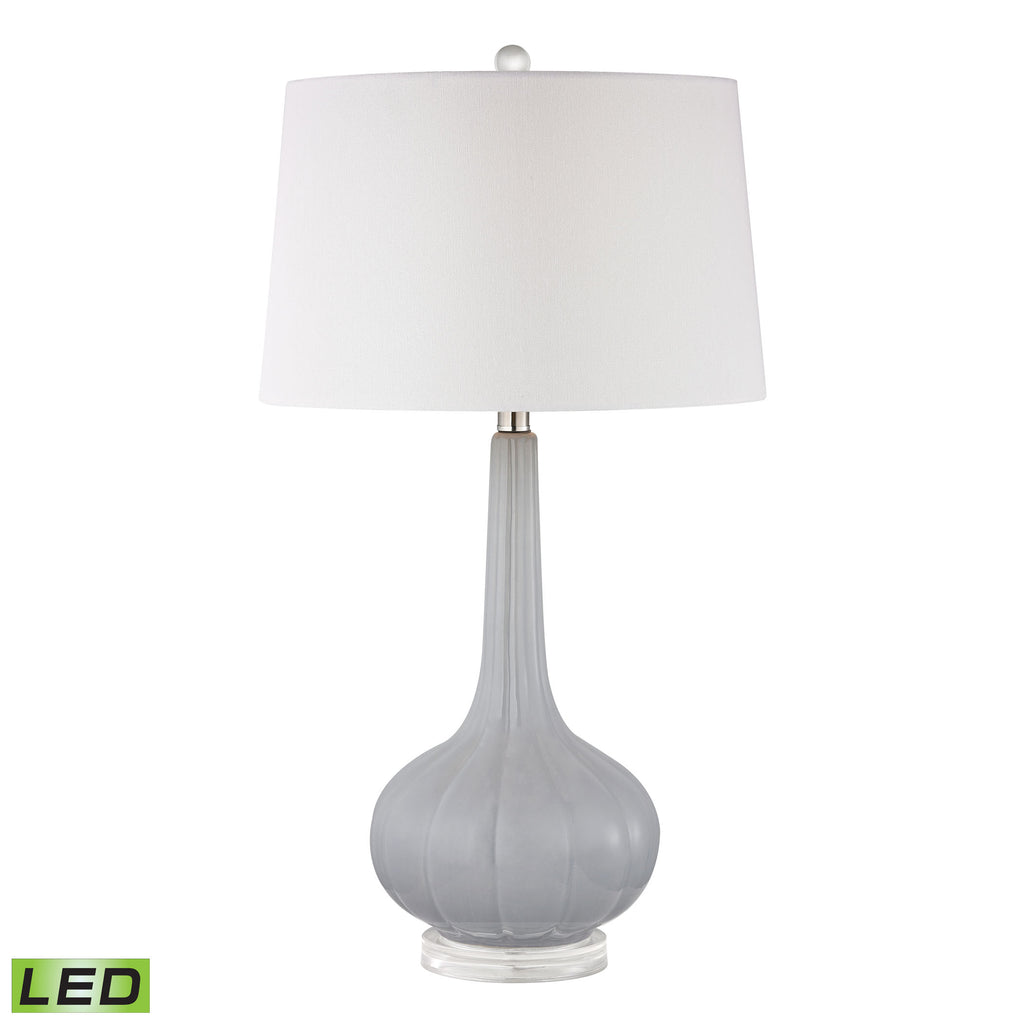 Abbey Lane Ceramic LED Table Lamp in Pastel Blue