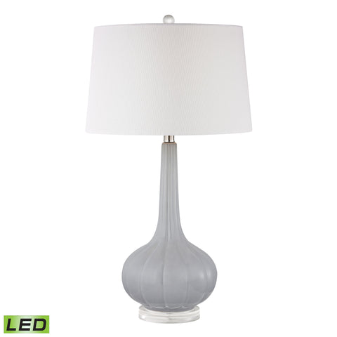 Beautiful Abbey Lane Ceramic LED Table Lamp in Pastel Blue for your Indoor Lighting.